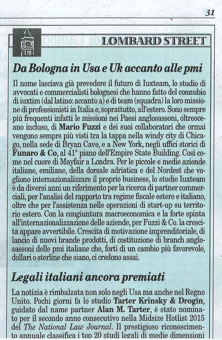 Milano Finanza 30 maggio 2015